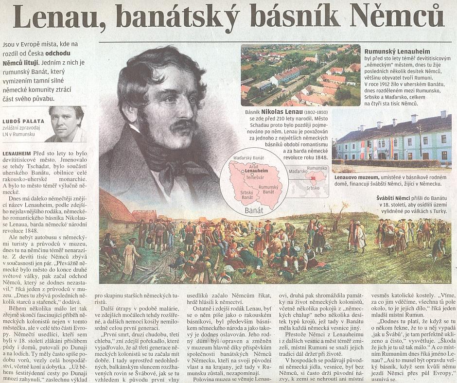 Článek Luboše Palaty v Lidových novinách jakoby se týkal i problematiky Němců ze Šumavy