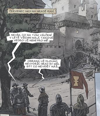 Hrad Rabí a husité pod ním v českém komiksu na kresbách Michala Kociána