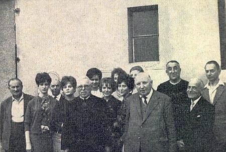 Roku 1961 s Dr. Dominikem Kaindlem a vídeňskými krajany