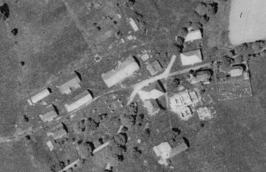 Hůrka na leteckých snímcích z roku 1950 a 2008