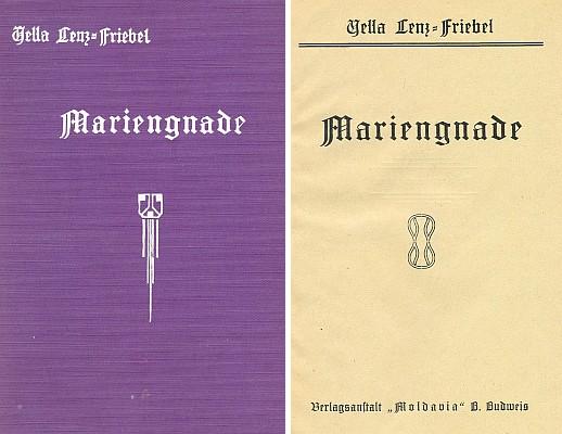 Obálka a titulní list (1929) románu vydaného nakladatelstvím Moldavia v Českých Budějovicích