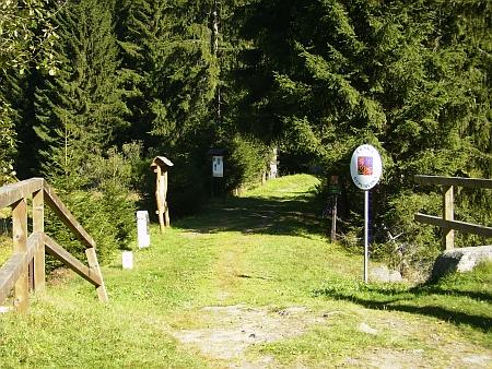 Mostek přes Harlandbach (Mechový potok) na Zlaté stezce