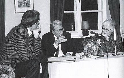 S Gertrudou Fusseneggerovou a Peterem Becherem v Mnichově v roce 1986