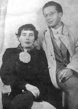 S manželkou Hanne v roce 1952