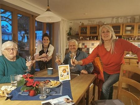 S rodinou při oslavě pětadevadesátin v roce 2020