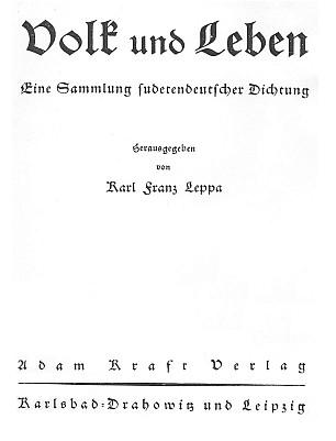 Titulní list (1936) knihy vydané také nakladatelstvím Adam Kraft