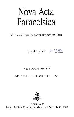 """Titulní list a text separátu s rozborem Leppovy básně """"Die Heimkehr des Paracelsus"""" z roku 1950, jehož autorkou je Dr. Margarete Sedlmeyerová"""