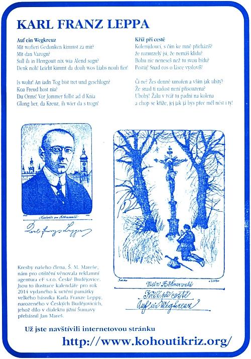 Pozvání ke stránkám Kohoutího kříže z modrobílé obálky časopisu Obnovená Tradice
