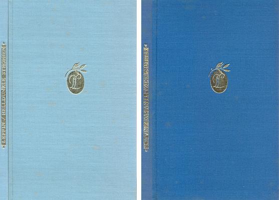 Vazby obou knih jeho Pražské rapsodie (Helldunkle Strophen a Das Antlitz der Mutter) s monogramem jeho jména