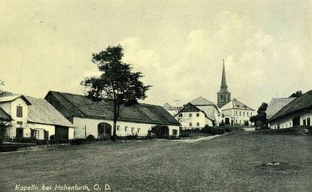 Rodné Kapličky na staré pohlednici (viz i Klemens von Weyhrother)