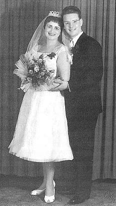 Svatební foto s manželem Jimem (Jamesem), s nímž se seznámila roku 1945 jako s vojákem US-Army