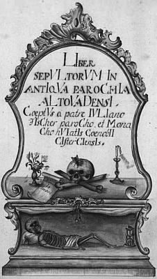 Titulní list vyšebrodské úmrtní matriky