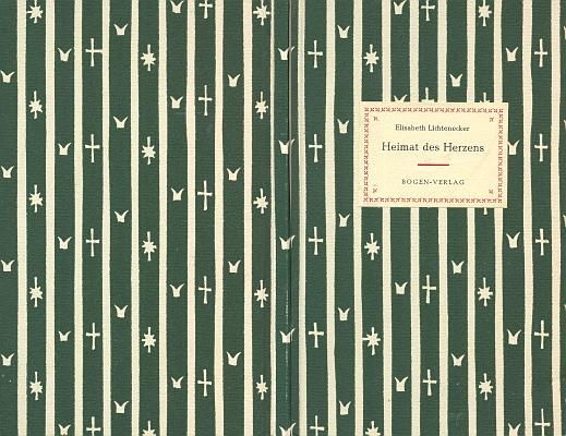 Vazba její básnické sbírky, vyšlé v nakladatelství Bogen Verlag roku 1960