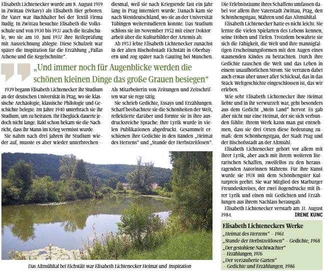 Životopis v časopise LandesEcho