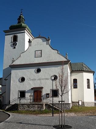 Kostel sv. Kateřiny ve Volarech po obnově z roku 2000