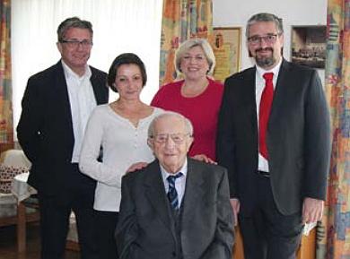 Při oslavě 95. narozenin