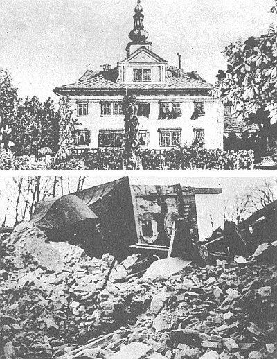 Zámek v Újezdě Svatého Kříže (demolován v roce 1978)