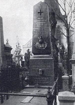 Hrob Gustava Adolfa Lindnera na pražském Vyšehradě