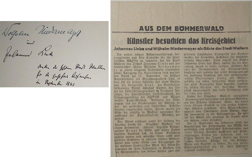 Zápis z kroniky Volar svědčí o jeho návštěvě města na podzim roku 1943