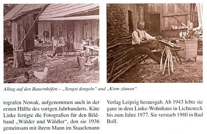 Článek o jeho ženě Käte v časopise Der Bayerwald (2009) s ukázkami její fotografické tvorby