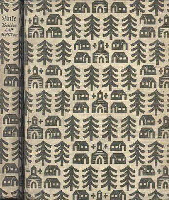 Vazba a hřbet knihy Wälder und Wäldler vydané v Lipsku nakladatelstvím Staackmann (1936), jejíž spoluautorkou byla i Käte Linkeová