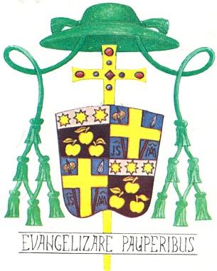 Jeho biskupský znak a heslo