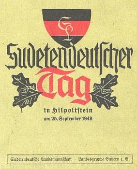 Jeho vášnivý projev na snad prvním Sudetoněmeckém sněmu rou 1949 v Hilpoltsteinu (Bavorské střední Franky), kdy mu bylo 72 let