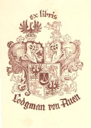 Jeho exlibris z knih, uložených v rezervních fondech Národní knihovny České republiky