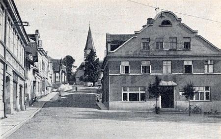 Někdejší vzhled Kostelní ulice v Horním Nýrsku