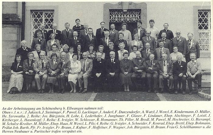 Se spolupracovníky měsíčníku Glaube und Heimat v dubnu roku 1990