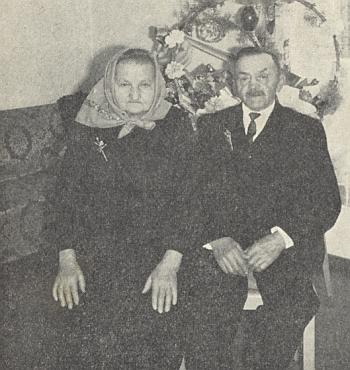 Zlatá svatba Franze a Franzisky Loistlových v roce 1970