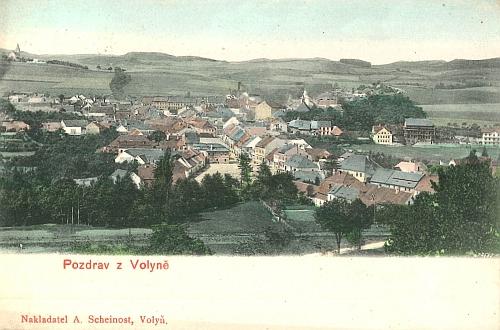 Rodná Volyně na staré pohlednici