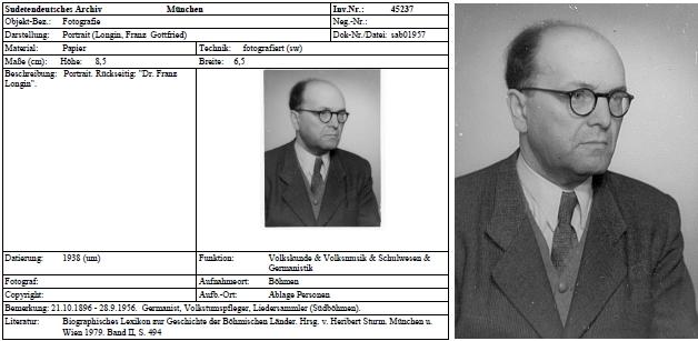 Tady je zachycen zřejmě o něco později na fotografii, uchovávané jako předchozí snímek ve fototéce Sudetoněmeckého archivu v Mnichově