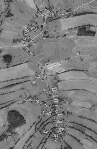 Rodné Bukovsko na leteckých snímcích z let 1952 a 2008
