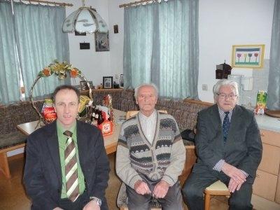 Při oslavách 95. (vlevo) a 97. narozenin