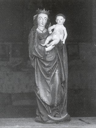 Madona z Mezipotočí na snímku českokrumlovského fotoateliéru Seidel z roku 1900