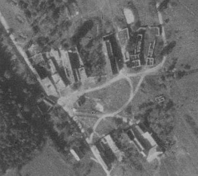 Zaniklý Hvozd na leteckých snímcích z let 1852 a 2011