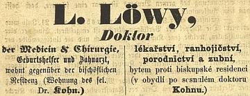 Inzerát, který si zadal krátce po svém příchodu do Českých Budějovic