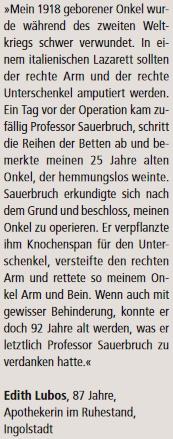 Dopis, otištěný v roce 2014 vněmeckém časopise Kopf-fit, vypovídá, že pracovala jako lékarnice