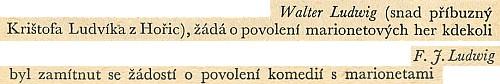 Několik řádků z Bartošovy knihy se jmény dalších dvou Ludwigů