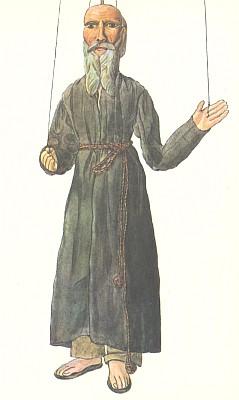 """Poustevník ze """"šumavské"""" hry Matěje Kopeckého """"Jan Kovařík aneb Loupežníci na hradě Přimdě"""" spůvodním názvem """"Vrah Kovařík"""" (1862), samozřejmě rovněž spostavou Kašpárkovou"""