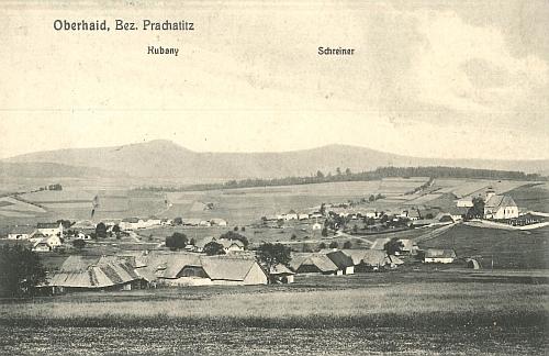 Zbytiny na pohlednici z roku 1910
