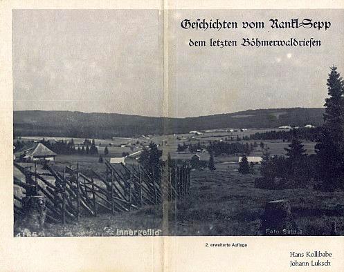 Na obálce (1986) knihy z nakladatelství Morsak v Grafenau je Horská Kvilda, foto Josef Seidel