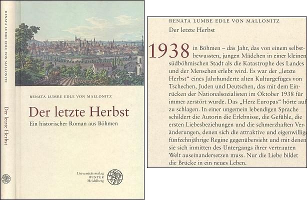 Obálka (2009) její knihy vydané univerzitním nakladatelstvím Winter v Heidelbergu