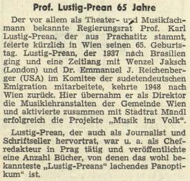 Pozdrav k jeho pětašedesátinám v rakouském krajanském listě