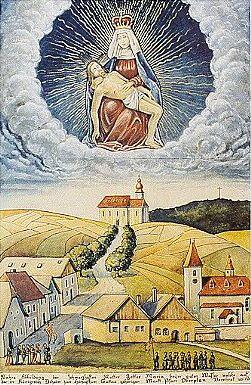 Horní Planá (obraz Eduarda Brazdy)