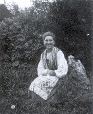 Stefanie v šumavském kroji