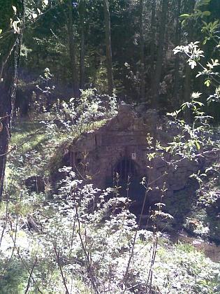 Dnešní (2011) stav vstupu do bývalé Josefovy štoly veschwarzenberských tuhových dolech