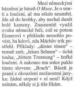 Ludvík Vaculík s Máchovou básní Múze usíná, i když je nepřeložitelná