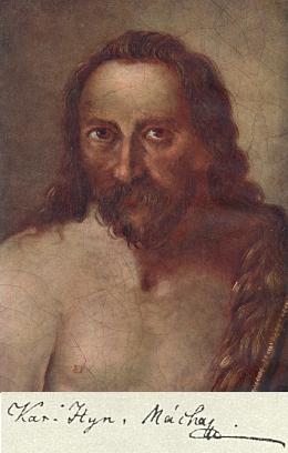 Obraz sv. Jana Křtitele v kapli na Valdštýně je podle Miloslava Novotného a jiných jedinou věrnou podobou básníkovou, započatou v roce jeho smrti a dokončenou rok po ní